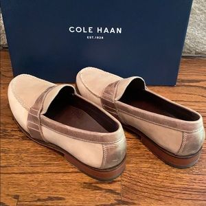 Cole haan tan loafers